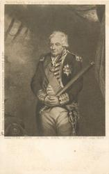 JOHN JERVIS, EARL OF ST. VINCENT, BORN 1734, DIED 1823